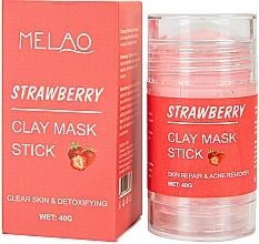 Parfémy, Parfumerie, kosmetika Jahodová maska na obličej - Melao Strawberry Clay Mask Stick