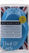 Parfémy, Parfumerie, kosmetika Kartáč na vlasy modrý - Tangle Teezer Thick & Curly Azure Blue