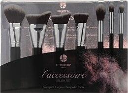 Parfémy, Parfumerie, kosmetika Sada štětců na líčení, 7 ks. - LP Makeup Set Of Seven Professional Brushes L'accessoire With Leather Bag