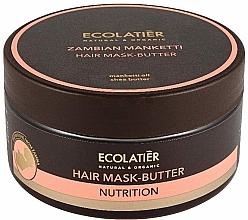 Parfémy, Parfumerie, kosmetika Máslová maska na vlasy Mongongo ořech - Ecolatier Butter Mask
