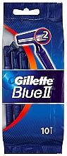Parfémy, Parfumerie, kosmetika Sada jednorázových holicích strojků, 10 ks - Gillette Blue II Disposable Men's 2-Blade Travel Razors with Razor Blades
