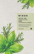 Parfémy, Parfumerie, kosmetika Látková maska s bylinkami - Mizon Joyful Time Essence Mask Herb