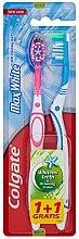 Parfémy, Parfumerie, kosmetika Zubní kartáč Max White, modrý + růžový - Colgate Max White Medium Polishing Star