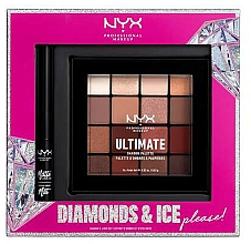 Parfémy, Parfumerie, kosmetika Sada - NYX Professional Makeup Diamonds & Ice Please Shadow & Liner Set (sh/palette/16x1.18g+liner/2ml)