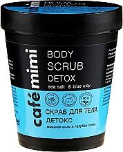 Parfémy, Parfumerie, kosmetika Scrub na tělo Detox. Mořská sůl a modrá hlína - Cafe Mimi Body Scrub Detox