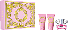 Parfémy, Parfumerie, kosmetika Versace Bright Crystal - Sada (edt/50ml + b/l/50ml + sh/gel/50ml)