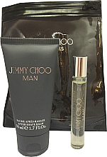 Parfémy, Parfumerie, kosmetika Jimmy Choo Man - Sada (edt/mini/7.5ml + afsh/balm/50ml)
