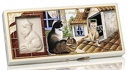 Parfémy, Parfumerie, kosmetika Sada prírodního mýdla ve tvaru kočky Kytice - Saponificio Artigianale Floral Bouquet Scented Soap (soap/3pcsx125g)