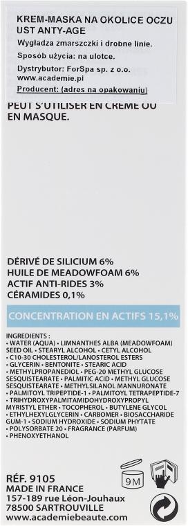 Krémová maska pro kontury očí a rtů - Academie Smoothing Care for Eye and Lip Contours — foto N3