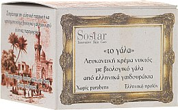 Parfémy, Parfumerie, kosmetika Noční krém - Sostar Skin Whitening Night Cream with Organic Donkey Milk