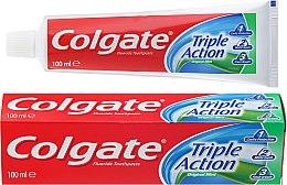 """Parfémy, Parfumerie, kosmetika Zubní pasta """"Triple action"""" - Colgate Triple Action Original Mint"""