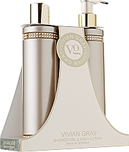Parfémy, Parfumerie, kosmetika Sada - Vivian Gray Brown Crystals Set (sh/gel/250ml + b/lot/250ml)