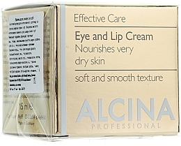 Parfémy, Parfumerie, kosmetika Anti-age krém na oči a rty - Alcina E Eye and Lip Cream