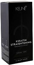 Parfémy, Parfumerie, kosmetika Léčivý systém pro keratinové narovnání vlasů - Keune Keratin Straightening Rebonding System Strong