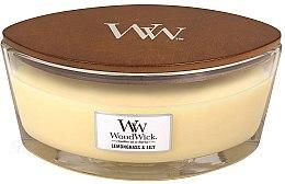 Parfémy, Parfumerie, kosmetika Aromatická svíčka ve sklenici - Woodwick Hearthwick Flame Ellipse Candle Lemongrass & Lily