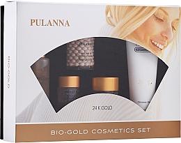 Parfémy, Parfumerie, kosmetika Sada - Pulanna Bio-Gold (eye/gel/21g + f/cr/2x60g + f/ton/60g + cl/milk/90g)
