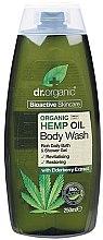"""Parfémy, Parfumerie, kosmetika Sprchový gel """"Konopný olej"""" - Dr. Organic Bioactive Skincare Hemp Oil Body Wash"""