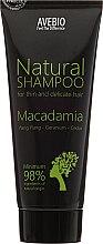 """Parfémy, Parfumerie, kosmetika Šampon na vlasy """"Macadamia"""" - Avebio Natural Shampoo For Thin And Delicate Hair"""