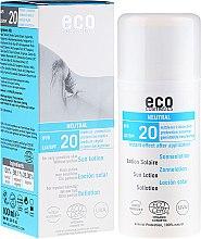 Parfémy, Parfumerie, kosmetika Opalovací lotion bez vůně - Eco Cosmetics Sun Lotion SPF 20
