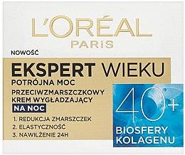 Parfémy, Parfumerie, kosmetika Noční krém na obličej - L'Oreal Paris Age Specialist Expert Night Cream 40+