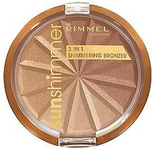 Parfémy, Parfumerie, kosmetika Pudr na obličej - Rimmel Sunshimmer 3in1 Shimmering Bronzing Powder