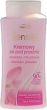 Parfémy, Parfumerie, kosmetika Krémový sprchový gel hedvábný protein - Joanna Sensual Shower Gel