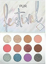 Parfémy, Parfumerie, kosmetika Paleta pigmentů - Pur Festival 2.0 12-Piece Pressed Pigments Palette