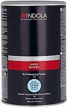 Parfémy, Parfumerie, kosmetika Zesvětlující prášek na vlasy, světle modrý - Indola Profession Rapid Blond+ Blue Dust-Free Powder