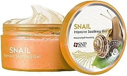 Parfémy, Parfumerie, kosmetika Zjemňující, hydratační a vyživující gel na obličej a tělo s hlemýždím mucinem - SNP Intensive Snail Soothing Gel