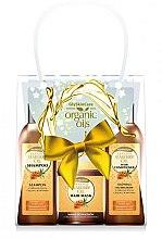 Parfémy, Parfumerie, kosmetika Sada - GlySkinCare Organic Seaberry Oil (h/mask/300ml + shmp/250ml + h/cond/250ml)