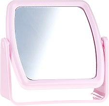 Parfémy, Parfumerie, kosmetika Zrcadlo na stojanu 85727, čtverec, růžové - Top Choice Beauty Collection Mirror