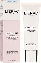 Parfémy, Parfumerie, kosmetika Rozjasňující maska na obličej - Lierac Lumilogie Even-Tone Brightening Mask