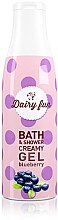 Parfémy, Parfumerie, kosmetika Sprchový gel Delia Dairy Fun Borůvka - Delia Dairy Fun Bath Shower Creamy Gel