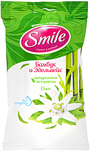 Parfémy, Parfumerie, kosmetika Vlhčené ubrousky Bambus a edelweiss - Smile Ukraine