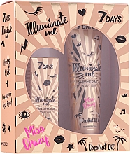 Parfémy, Parfumerie, kosmetika Sada - 7 Days Illuminate Me Miss Crazy №2 (b/milk/150ml + fluid/50ml)
