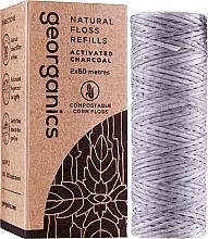 Parfémy, Parfumerie, kosmetika Zubní nit, 2x50 m - Georganics Natural Charcoal Dental Floss (náhradní náplň)
