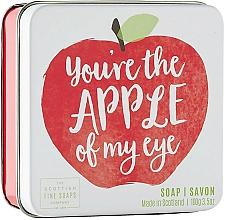 Parfémy, Parfumerie, kosmetika Tělové mýdlo v metalické nádobě Jablko - Scottish Fine Soap In A Tin Fruits Apple Soap