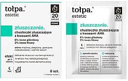 Parfémy, Parfumerie, kosmetika Exfoliačné ubrousky s AHA kyselinami - Tolpa Estetic Exfoliating Wipe