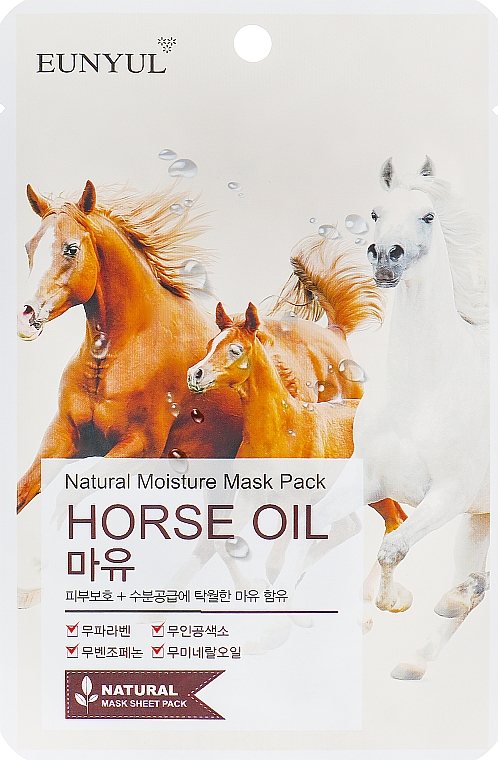 Maska s koňským olejem - Eunyul Horse Oil Mask Pack