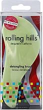 Parfémy, Parfumerie, kosmetika Kartáč na vlasy, světle zelený - Rolling Hills Detangling Brush Travel Size Light Green