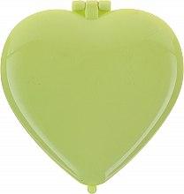 Parfémy, Parfumerie, kosmetika Kompaktní zrcátko ve tvaru srdce, 85550, zelené - Top Choice Colours Mirror