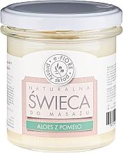 Parfémy, Parfumerie, kosmetika Masážní aromatická svíčka Aloe a Pomelo - E-Fiore Massage Candle