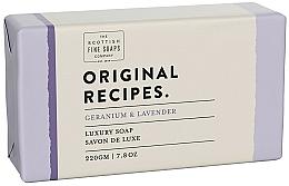 Parfémy, Parfumerie, kosmetika Mýdlo Geranium a levandule - Scottish Fine Soaps Original Recipes Geranium & Lavender Luxury Soap Bar