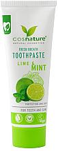 """Parfémy, Parfumerie, kosmetika Přírodní zubní pasta """"Limetka a máta"""" - Cosnature"""