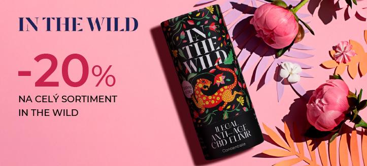 Sleva až -20% na celý sortiment In The Wild. Ceny na webu jsou včetně slev