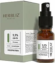 Parfémy, Parfumerie, kosmetika Ustní sprej na bázi oleje Oliva 2.5% - Herbliz CBD Olive Fresh Oil Mouth Spray 2,5%