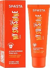 Parfémy, Parfumerie, kosmetika Dětská přírodní zubní pasta Prevence zubního kazu a posílení zubní skloviny - Spasta My Sunshine