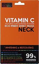 Parfémy, Parfumerie, kosmetika Expresní maska na krk - Beauty Face IST Whitening & Restorating Neck Mask Vitamin C