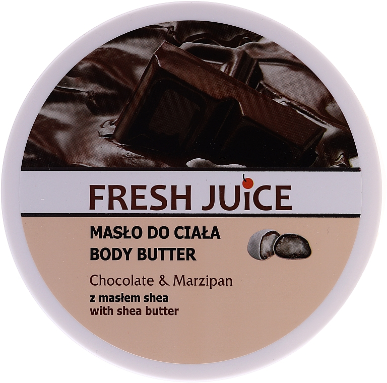 Tělový olej Čokoláda a marcipán - Fresh Juice Body Butter Chocolate & Marzipan With Shea Butter
