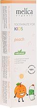 Parfémy, Parfumerie, kosmetika Dětská zubní pasta - Melica Organic Toothpaste For Kids Peach